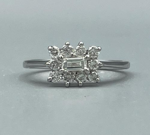 18ct White Gold Diamond Cluster Ring (1 of 14)
