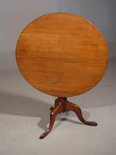 Attractive George III Period Honey Golden Oak Tilt Table (1 of 4)