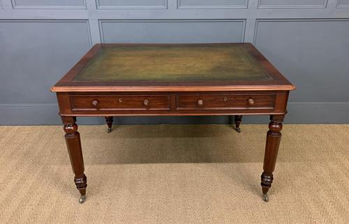 Victorian Mahogany 4 Drawer Partners Writing Table (1 of 13)