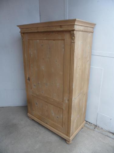 Victorian Antique Pine 1 Door Kitchen Storage Cupboard to wax / paint (1 of 10)
