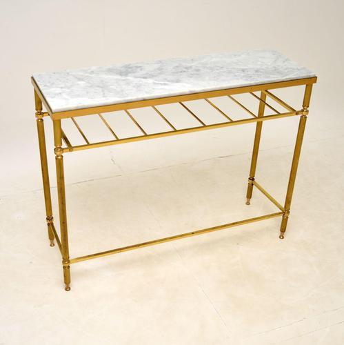 Vintage French Brass & Marble Console Table (1 of 8)
