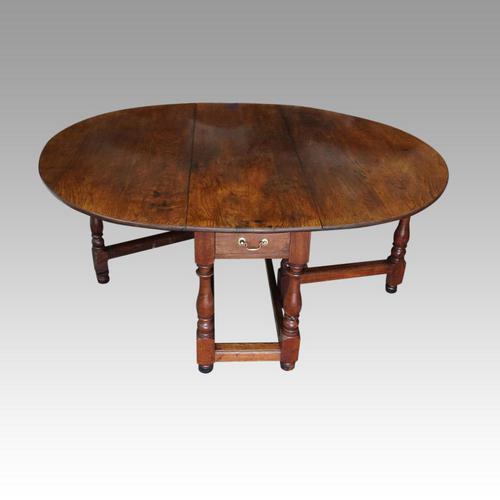 Large Antique Oak Gateleg Dining Table (1 of 13)