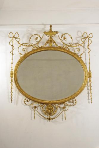 19th Century Gilt Adam Style Overmantle Mirror (1 of 13)