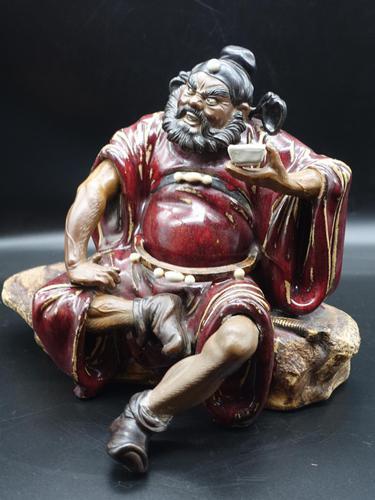 Large Early 20th Century Chinese Shiwan Figure of Zhong Kui (1 of 5)