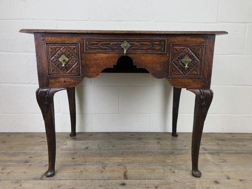 Antique 19th Century Carved Oak Lowboy Side Table (1 of 17)