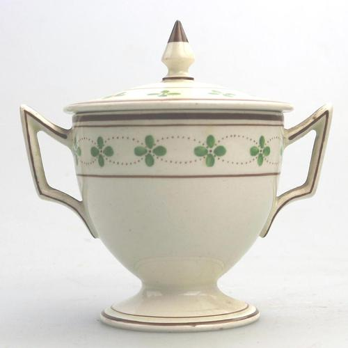 Alfred Powell - Wedgwood Creamware Pottery Lidded Loving Cup c.1905 (1 of 6)