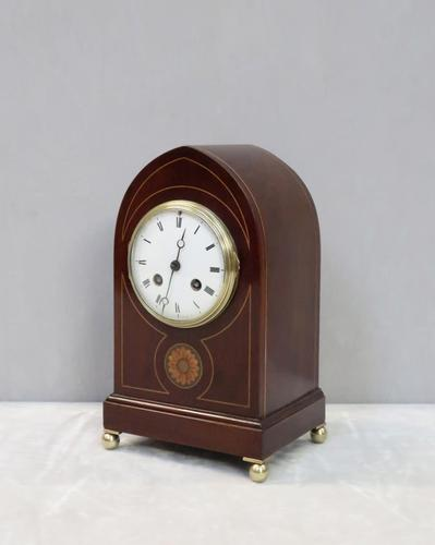 French Belle Epoque Mahogany Mantel Clock by Samuel Marti (1 of 6)