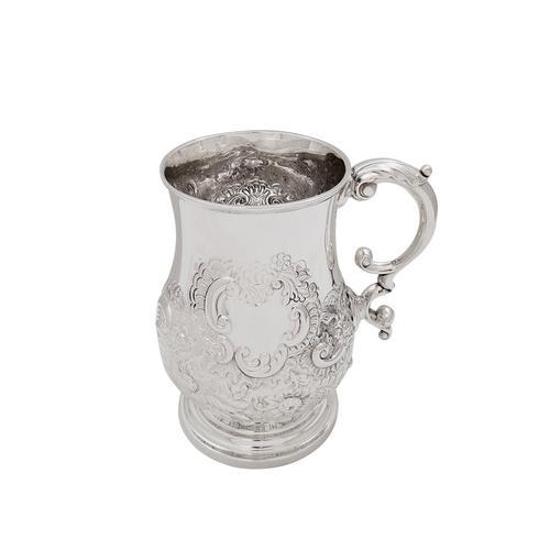 Antique Georgian Sterling Silver Pint Tankard / Mug 1821 (1 of 9)