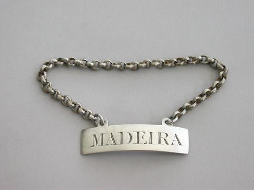 Silver Wine Label 'Madeira' by Charles Rawlings & William Summers, London, 1854 (1 of 8)
