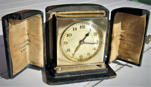 Art Deco Travel Alarm Clock of the Highest-Quality by Zenith (1 of 6)