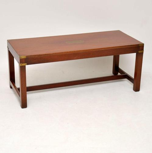 Military Campaign  Mahogany & Brass Coffee Table (1 of 8)