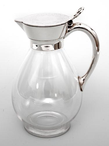 Victorian Martin Hall & Co Silver Plated & Glass Claret Jug (1 of 4)