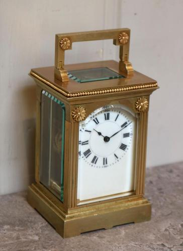 French Gilt Brass Carriage Clock (1 of 12)
