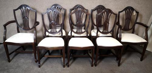 Set of Eight '6+2' Mahogany Dining Chairs in the Hepplewhite Style (1 of 15)