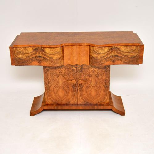 Art Deco Burr Walnut Console Table by Hille (1 of 12)