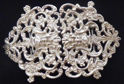 Victorian 1899 Hallmarked Solid Silver Nurses Belt Buckle Charles May of London (1 of 8)