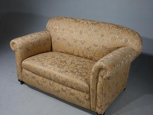 Attractive, Small, Late Victorian Drop-End Sofa (1 of 5)