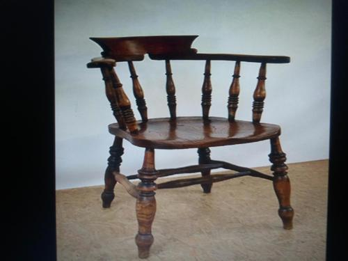 Captain's Chair or Smoker's Bow. Good and Original Victorian (1 of 9)