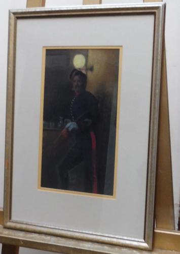 Pastel portrait Victorian soldier in uniform (1 of 10)