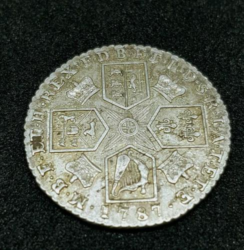 Rare George III Shilling 1787 Silver Coin Great Condition (1 of 2)