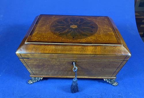 Regency Burr Maple  Jewellery Box With Inlay (1 of 16)