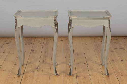 Pair of French Painted Bedside Cabinets / Tables (1 of 8)