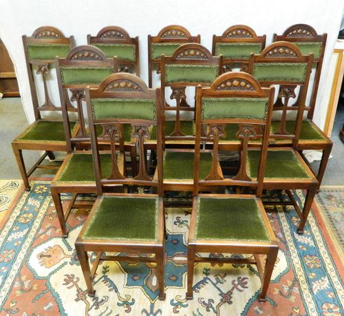 Set of 10 Art Nouveau Dining Chairs (1 of 6)