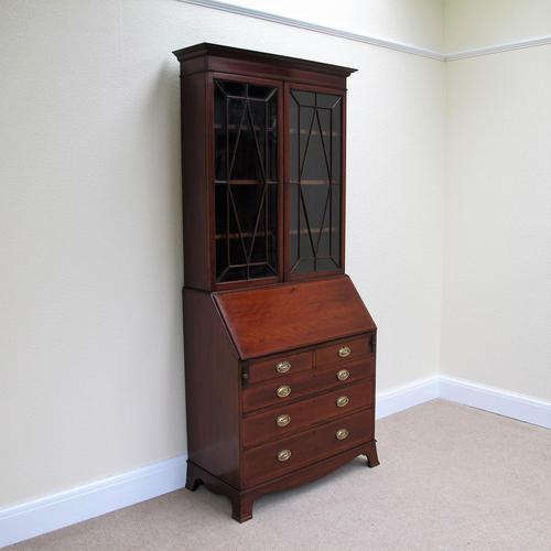 Mahogany Bureau Bookcase - Edwardian (1 of 6)