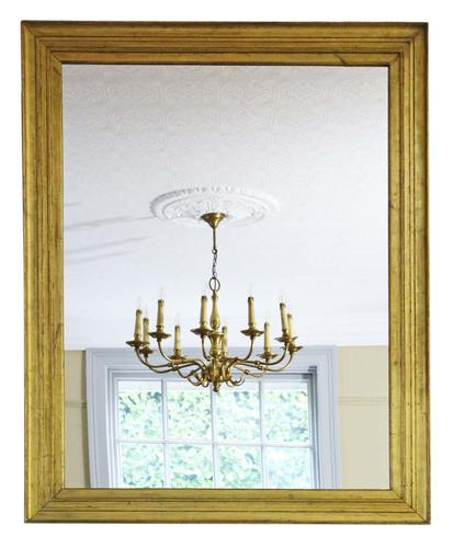 19th Century Gilt Overmantle Wall Mirror (1 of 7)