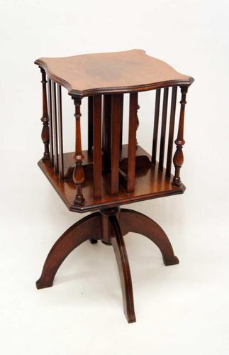 Small Edwardian  Mahogany Regency  Revival  Revolving Bookcase on Stand (1 of 11)