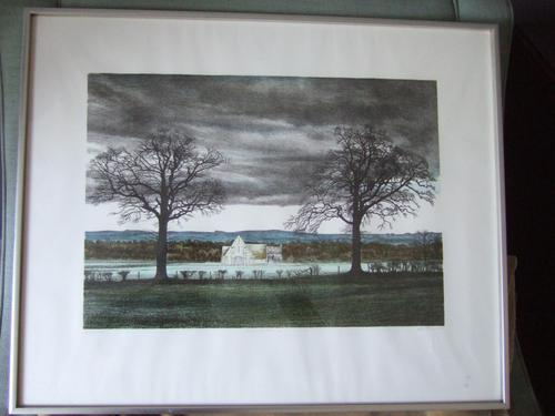 """George Guest (1939-2020): lithograph entitled """"Great Barn"""" (1 of 4)"""