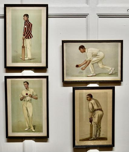 """Collection of 4 Vanity Fair Cricketing  Themed """"Spy""""Prints (1 of 11)"""