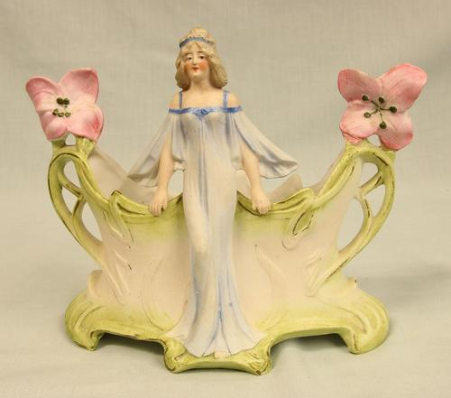 Bisque Figurine of Young Lady (1 of 6)