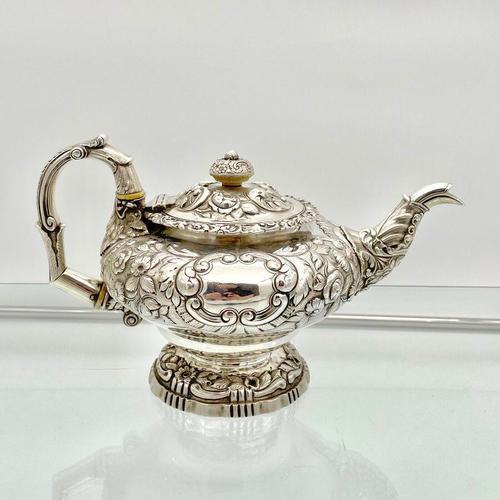 Antique George IV Sterling Silver Teapot London 1824 John Craddock & William Reid (1 of 11)