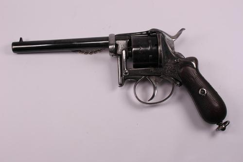 Belgian 6 Shot 9mm Fagnus Double Action Pin Fire Revolver (1 of 6)