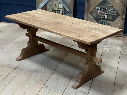 Smaller French Farmhouse Bleached Oak Dining Table (1 of 17)