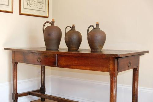 19th Century French Refectory Style Table with pull-out bread board (1 of 18)