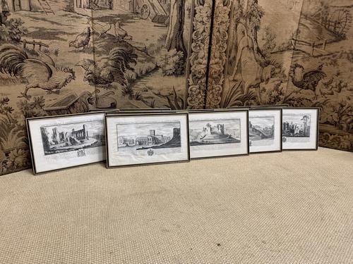 Set of 9 Framed Prints of Historic Castles & Abbeys (1 of 10)