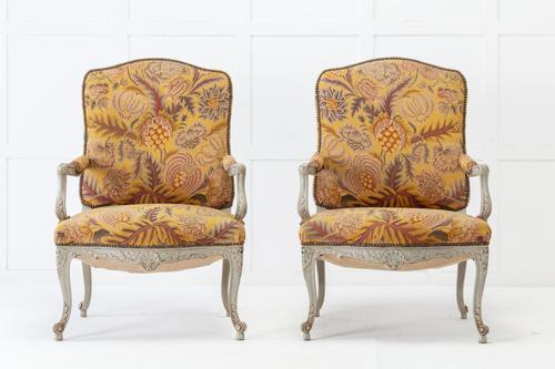 Pair of 1920s French Painted Chairs (1 of 10)
