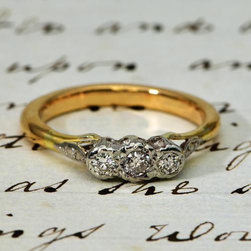 The Vintage Illusion Set Three Diamond Ring (1 of 4)