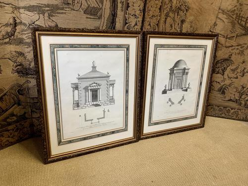 Pair of Framed Architectural Prints (1 of 5)