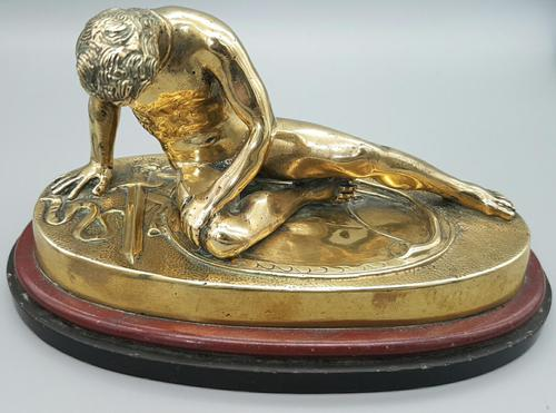 Beautiful Antique Dying Gaul / Gladiator Brass Sculpture (1 of 6)