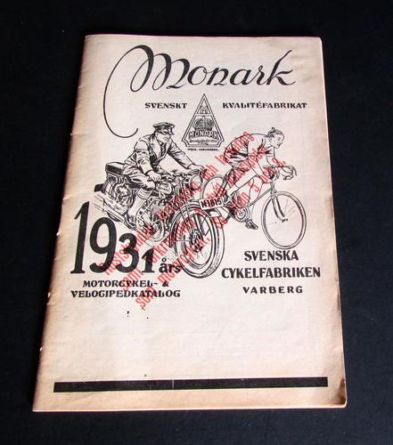 1931 Monark Motorcycle & Bicycle Rare Catalogue / Brochure Sweden (1 of 7)