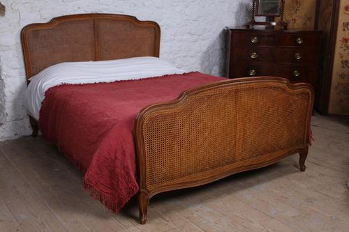 Nice Simple Louis XV Style Caned King Size Bed (1 of 7)