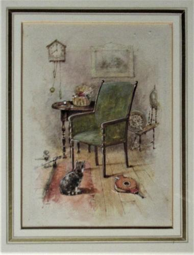 Fine antique watercolour, manner of George Goodwin Kilburne, c1900, framed (1 of 7)