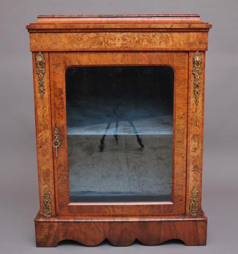 19th Century Walnut & Marquetry Pier Cabinet (1 of 11)