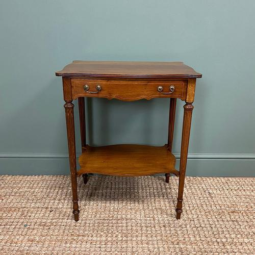 Small Edwardian Mahogany Antique Side Table (1 of 5)