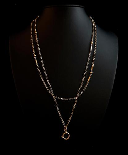 Victorian 15ct gold longuard chain, necklace (1 of 12)