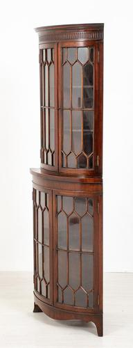 Bow Fronted Double Mahogany Corner Cabinet (1 of 6)