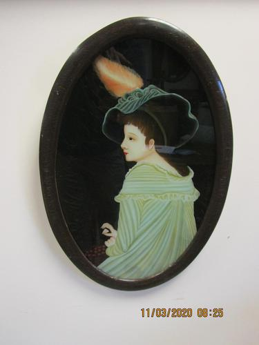 19th Century Continental Reverse Glass Painting (1 of 5)